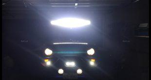 Photo Led bar trợ sáng: xe bán tải Ford Ranger và ô tô gắn đèn led bar để trang trí cho xe thêm đẳng cấp